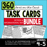 Reading Task Card BUNDLE (4th-5th Grade Fiction & Informat