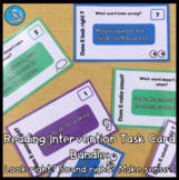 Reading Intervention Task Cards Bundle: Look right? Sound right? Make sense?