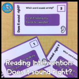 Reading Intervention Task Cards: Does It Sound Right?