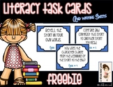 Reading Task Cards FREEBIE