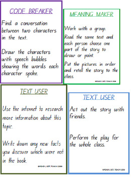 Reading Task Cards - Fiction