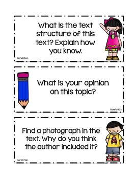 Reading Task Cards - Fiction & Nonfiction