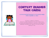 Grades 3-5 Context Reading Task Cards