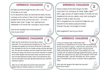 Reading Task Cards (Inference & Deduction with Textual Evidence)