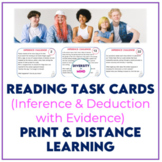Reading Task Cards (Inference & Deduction with Evidence) *