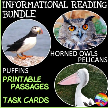 Informational Text and Task Cards BIRD BUNDLE TWO Pelican,