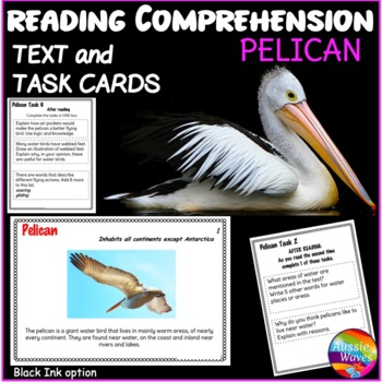 Informational Text and Task Cards Reading Non-Fiction BIRD