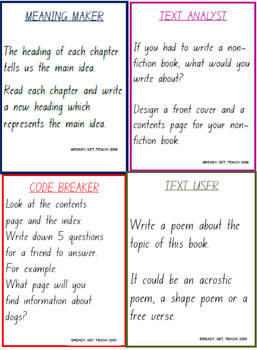 Reading Task Cards - Non Fiction