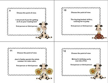 Point of View- Grades 4-5-Reading Task Cards