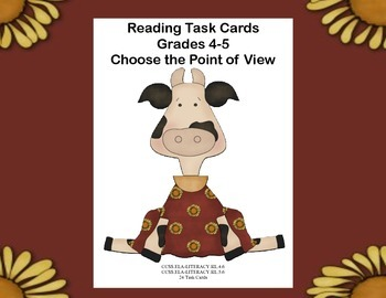 Reading Task Cards Point of View Grades 4-5