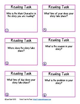 Reading Task Cards Sampler
