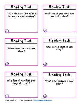 Reading Task Cards Sampler