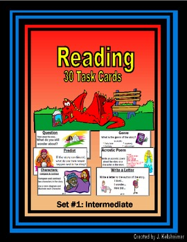 Reading Task Cards Set #1: Intermediate (Centers)