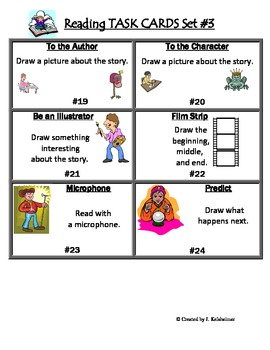 Reading Task Cards Set #3 (Centers)