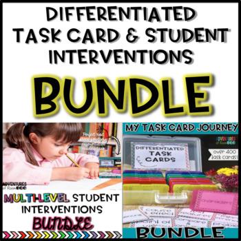 Reading Task Cards & Student Intervention BUNDLE