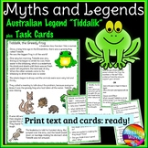 Myth or Legend from Australia Tiddalik Text & Task Cards