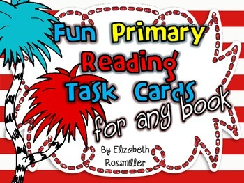 Reading Task Cards for ANY book