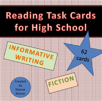 Reading Task Cards for High School
