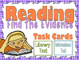 Reading Task Cards for Informational and Literary Text (grades 2-4)