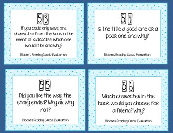 Reading Task Cards w/ Bloom's Taxonomy