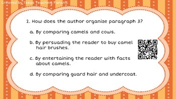 Reading Task Cards with QR Codes: Mixed Skills