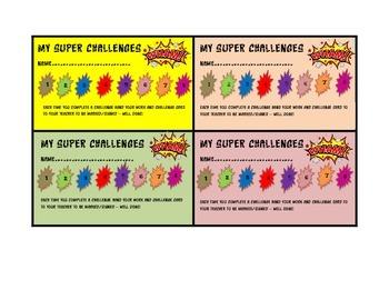 Reading Tasks Super Challenges.