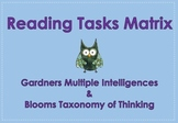 Reading Tasks based on Blooms Taxonomy & Multiple Intelligences