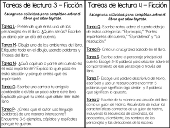 Reading Tasks in Spanish