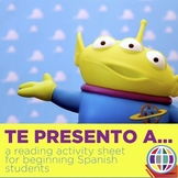 Introductions reading worksheet for Spanish 1 or 2 - Te pr