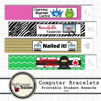 Computer Teacher Tech Lab Reward Bracelets Printable Bracelets