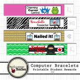 Computer Teacher Tech Lab Reward Bracelets Printable PBIS Bracelets