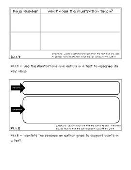 Reading Teams - Reading Informational Text Standards - Grade 1