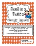 Reading Teams - Reading Informational Text Standards - Grade 1