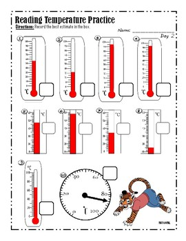 Reading Temperature Practice
