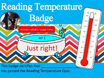 Reading Temperature - Process Skills - Badge Quiz