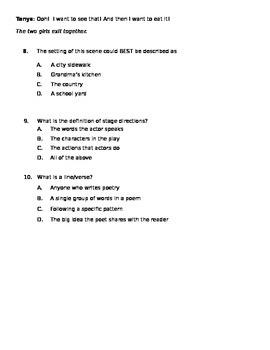 Reading Test CC.4.RL.5, CC.4.RL.6