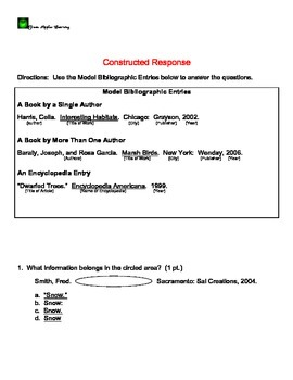 Reading Test - Info Resources, Context Clues, Non-fiction text features