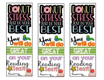 Reading Test Motivation Bookmark!