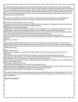 Reading Test Practice: Comprehension Practice