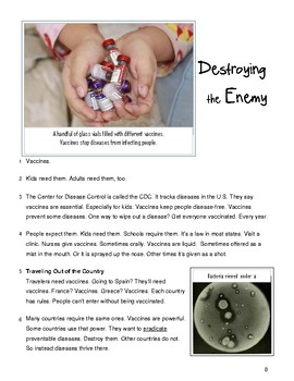"1 Article ""Destroying the Enemy""~Reading & Writing Test Prep"
