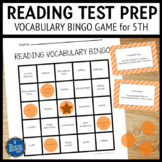 Reading Test Prep 5th Grade Vocabulary Bingo