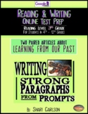 SBAC READING & WRITING Test Prep 2 TEXTS PAIRED~ABOUT SUE & LEARNING ABOUT PAST