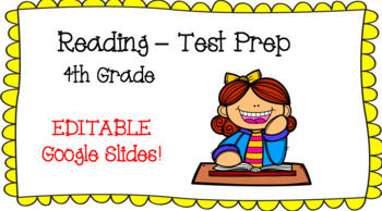 Reading Test Prep - 4th Grade - Editable**