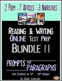 SBAC Test Prep ~ BUNDLE II ~ with 12 Texts ~