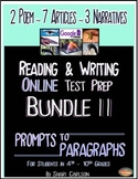 SBAC Test Prep ~ BUNDLE II ~ with 12 ONLINE Texts ~