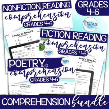 Reading Test Prep - BUNDLE of BEST SELLERS - Common Core Aligned - Grades 4-6