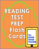 Reading Test Prep Flash Cards  w/ Affixes - Figurative Language - Text Features