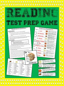 Reading Test Prep Flashcards & Sports Themed Game