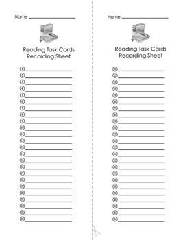 Reading Test Prep Task Cards FREE
