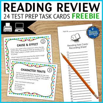 Reading Test Prep Task Cards FREE